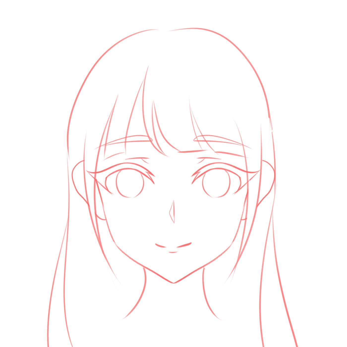 How To Draw The Head And Face Anime Style Guideline Front View Tutorial Mary Li Art