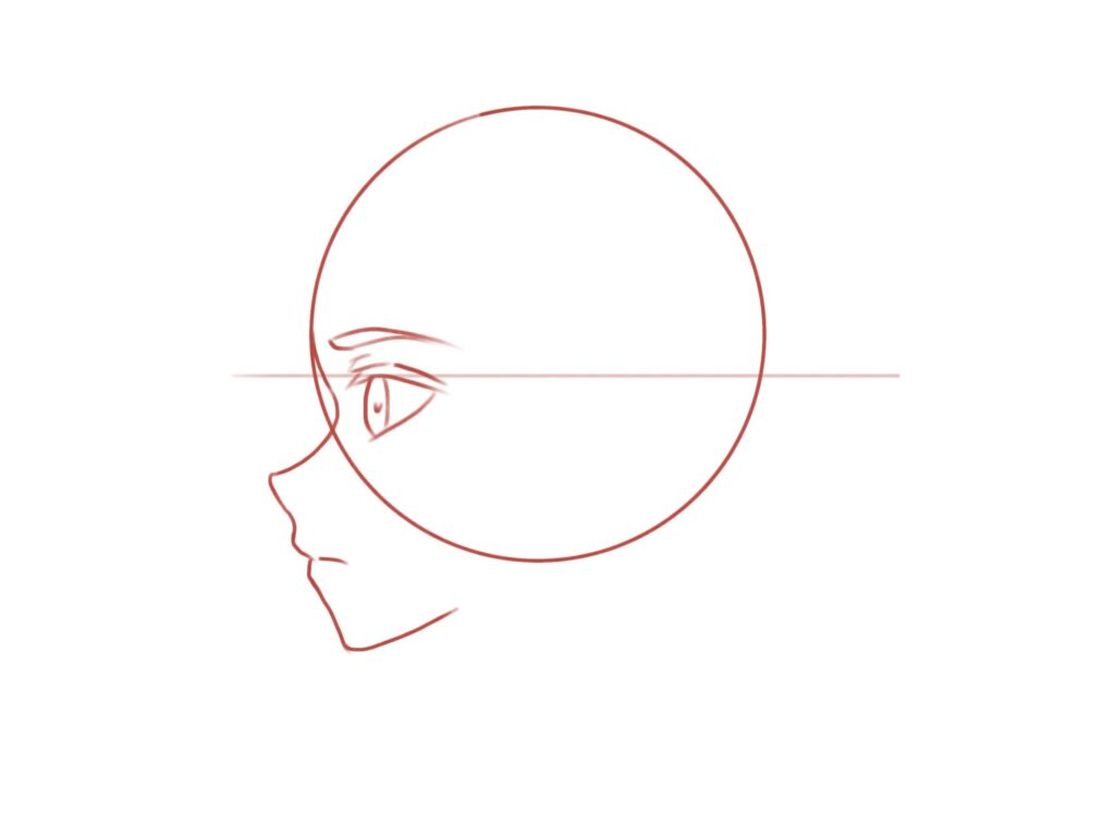 anime side view tutorial