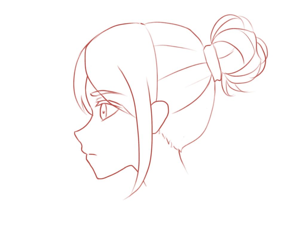 How to Draw the Head and Face - Anime-style Guideline Side View